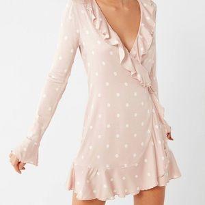 Urban outfitter polka dot wrap dress